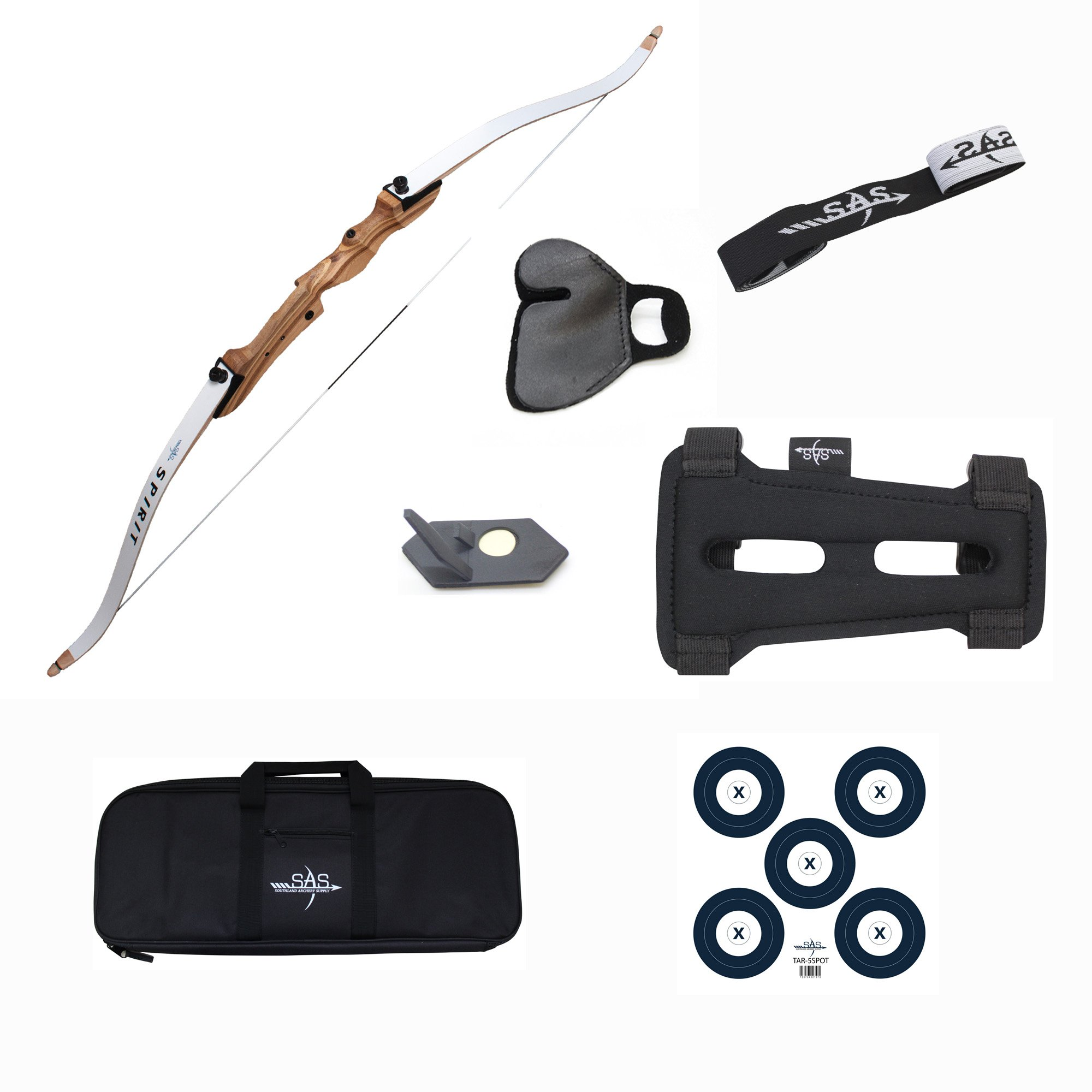 Southland Archery Supply SAS Spirit 62'' Beginner Bow Set (26 lbs) by Southland Archery Supply