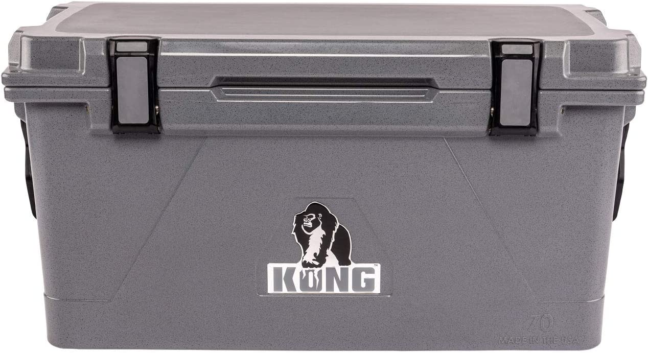 KONG Coolers 70 Quart Rotomolded Proudly Made in The USA Durable, Safe, No-Slip Feet, Extended Ice Retention Cooler