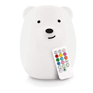 d5a1ecd83a LED Nursery Night Lights for Kids: LumiPets Cute Animal Silicone Baby Night  Light with Touch