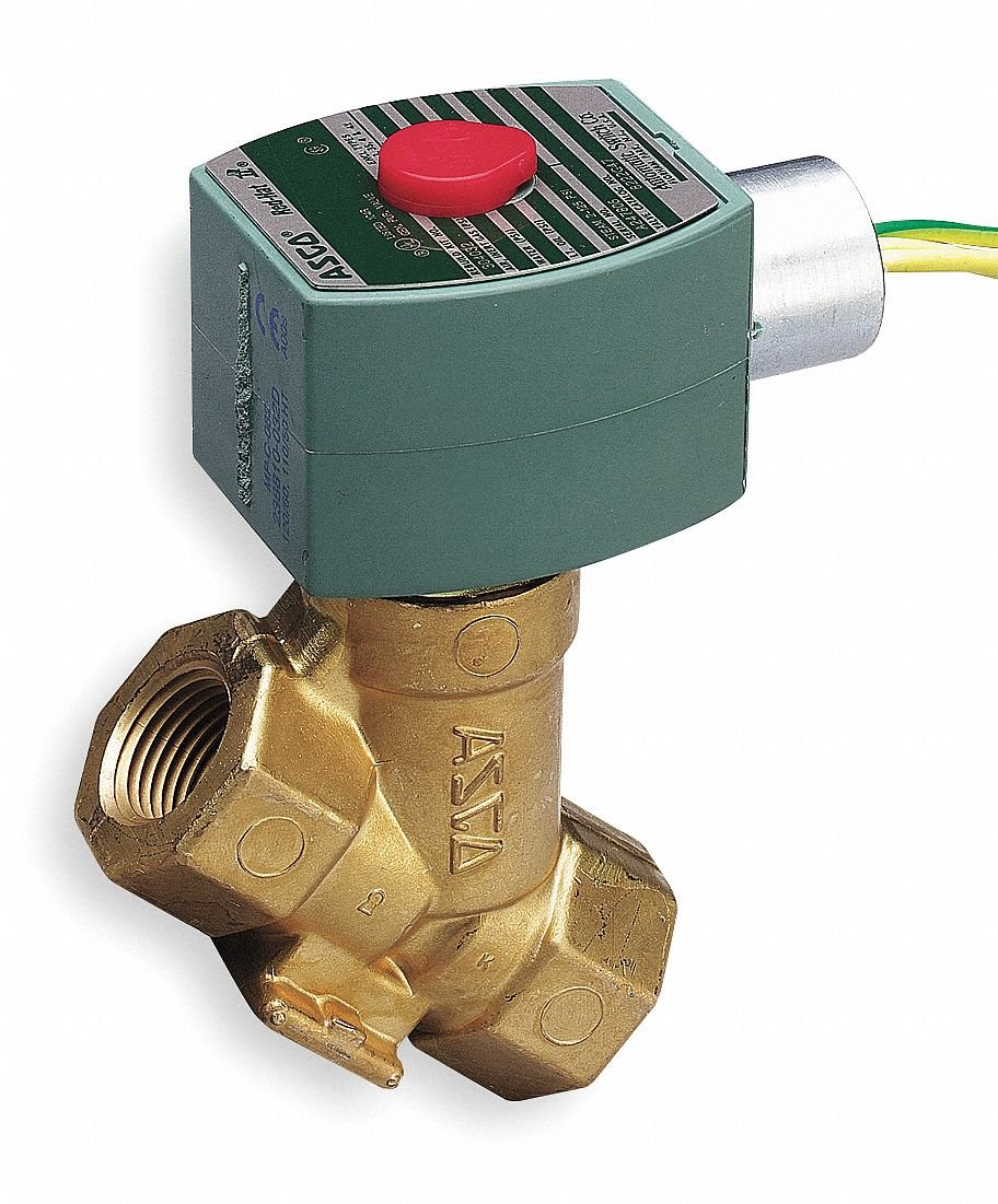 Steam Solenoid Valve, 2-Way/2-Position Valve Design, Normally Closed Valve Configuration by Red Hat