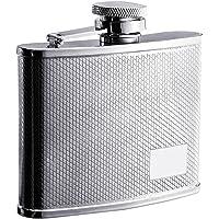 "Visol""Sparkle"" Stainless Steel Hip Flask, Diamond Pattern, 4-Ounce, Chrome"
