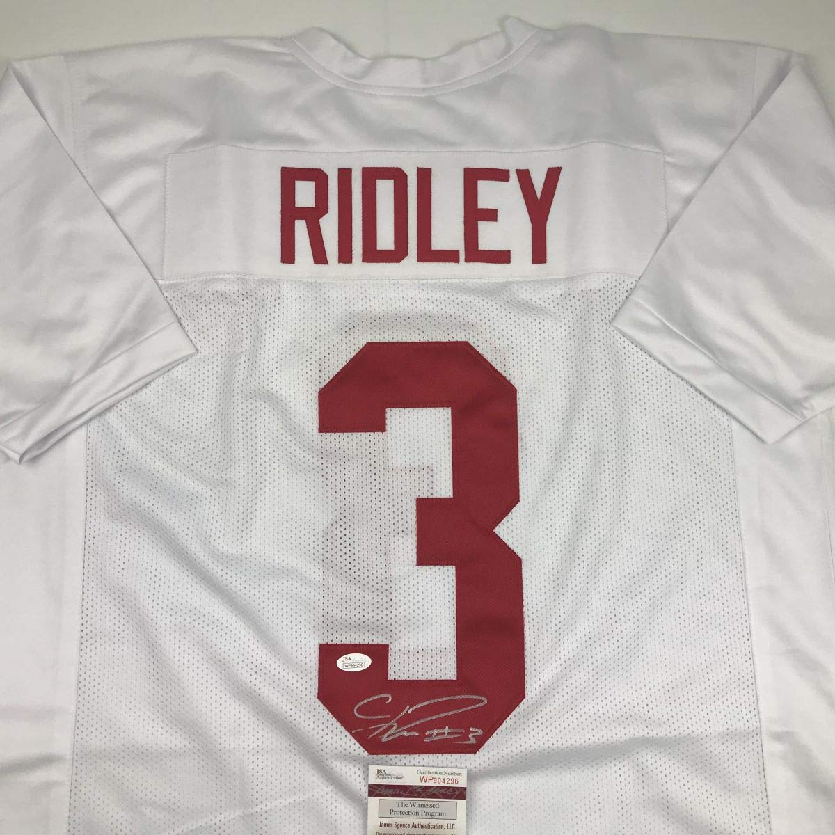 Autographed Signed Calvin Ridley Alabama White College Football Jersey JSA  COA at Amazon s Sports Collectibles Store e97560017