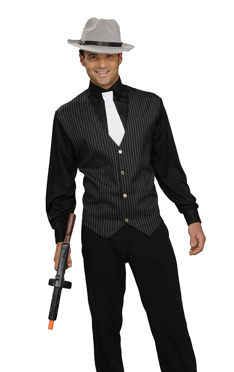 Men's Swing Dance Clothing to Keep You Cool Mens Gangster Shirt Vest And Tie Costume $41.40 AT vintagedancer.com