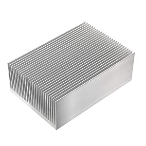Nxtop Aluminum Heat Sink Heatsink Module Cooler Fin for High Power Led Amplifier Transistor Semiconductor Devices with 100mm (L) x 69mm(W) x 36mm(H)