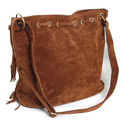 Amazon.com: Graceful bolsas de hombro Oval Fringe bolso ...