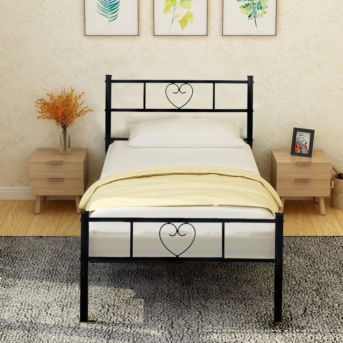 38def47f73 Aingoo Lit Cadre de Lit Simple Solid avec Un Grand Espace de Rangement pour  Les Enfants
