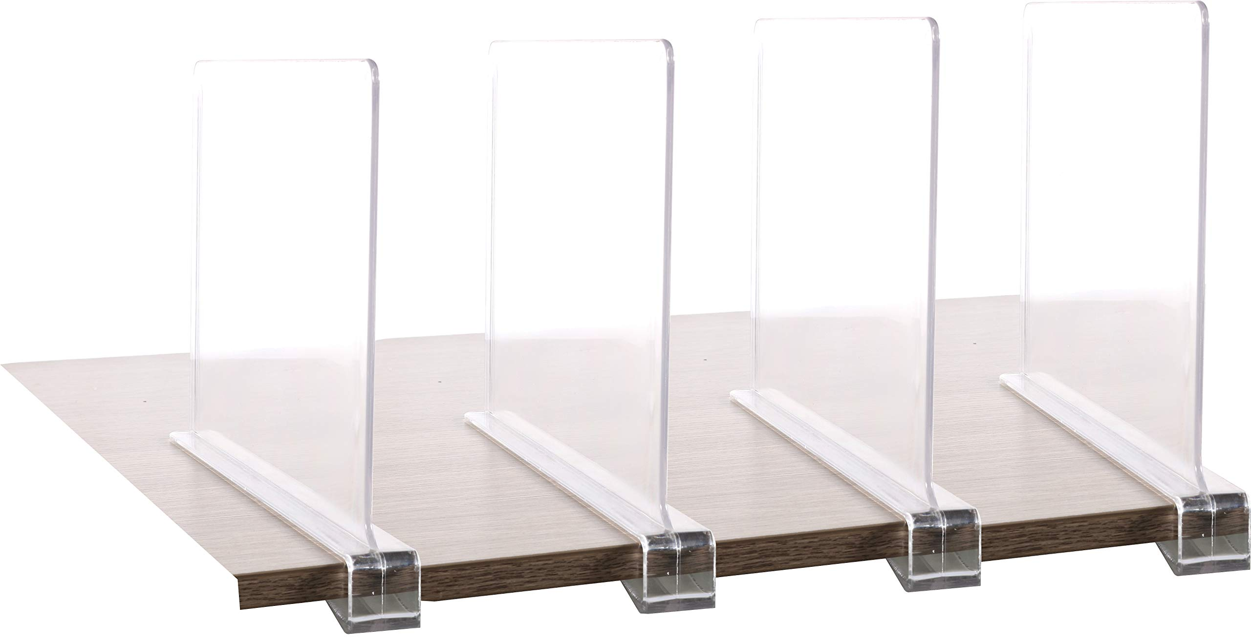 4PCS Multifunction Acrylic Shelf Dividers,Closets Shelf and Closet Separator for Wood Closet,Only Need to Slide to Adjust The Appropriate Distance by Cq acrylic