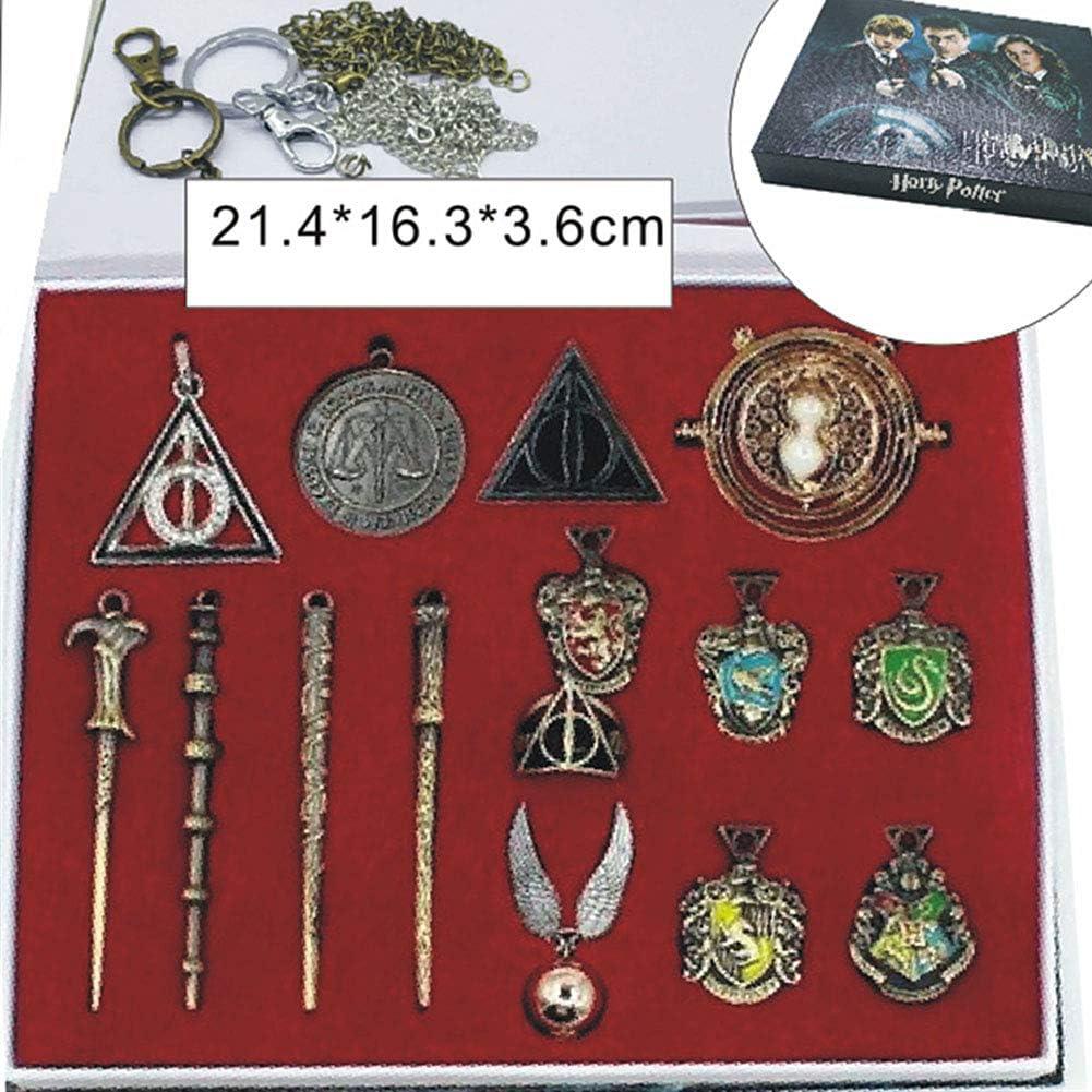 EisEyen 11 unids/Set Harry Potter Hermione Dumbledore Voldemort Varita mágica con Caja de Halloween Harri Potter Chico Hogwarts Varita mágica de Regalo