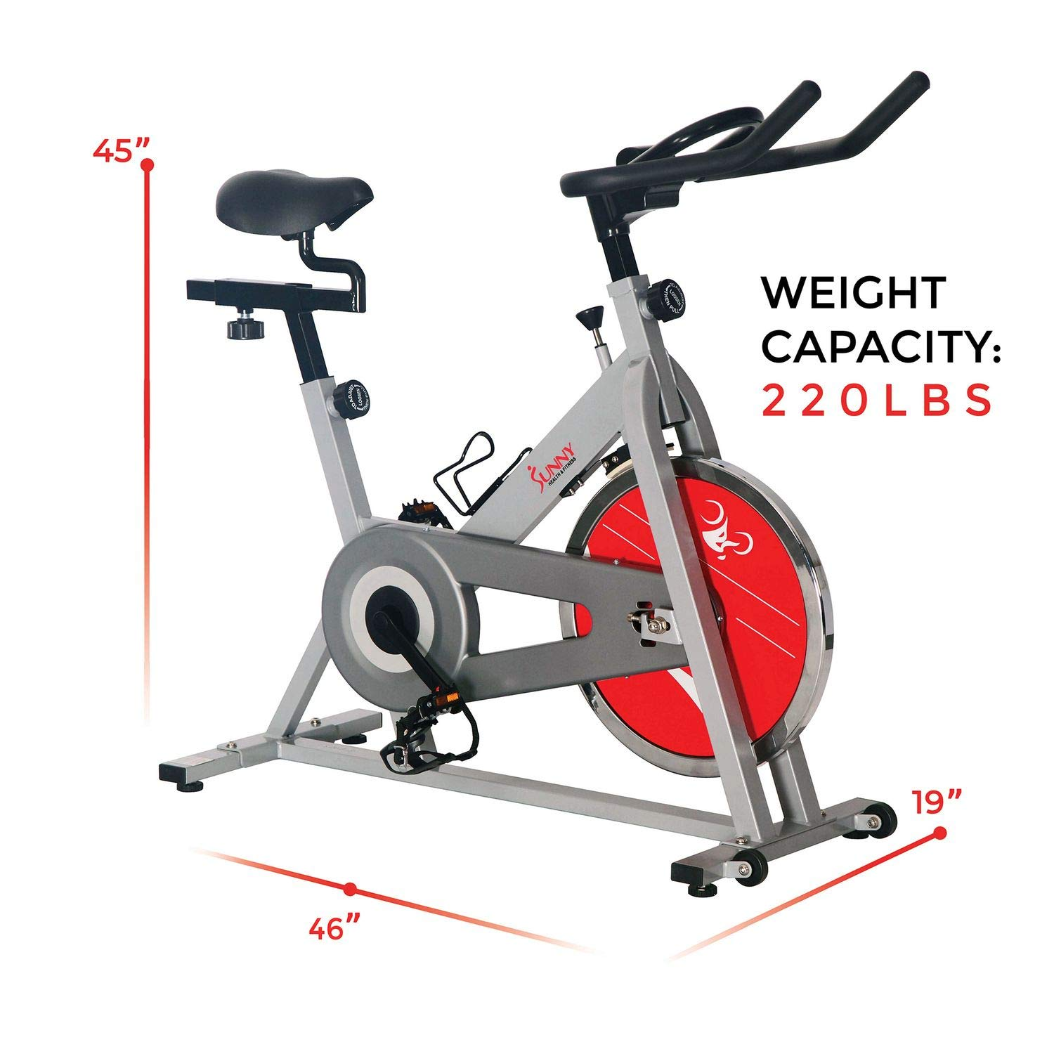 Sunny Health & Fitness SF-B1001S Indoor Cycling Bike, Silver by Sunny Health & Fitness (Image #18)