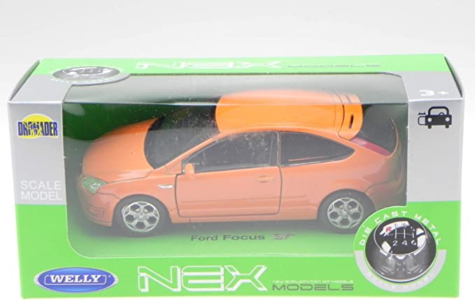 Ford Focus ST 3-Türer orange Modellauto 42378 Welly 1:34