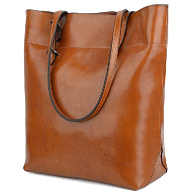 BIG SALE- 40% OFF- YALUXE Women's Soft Leather Work Tote Shoulder ...