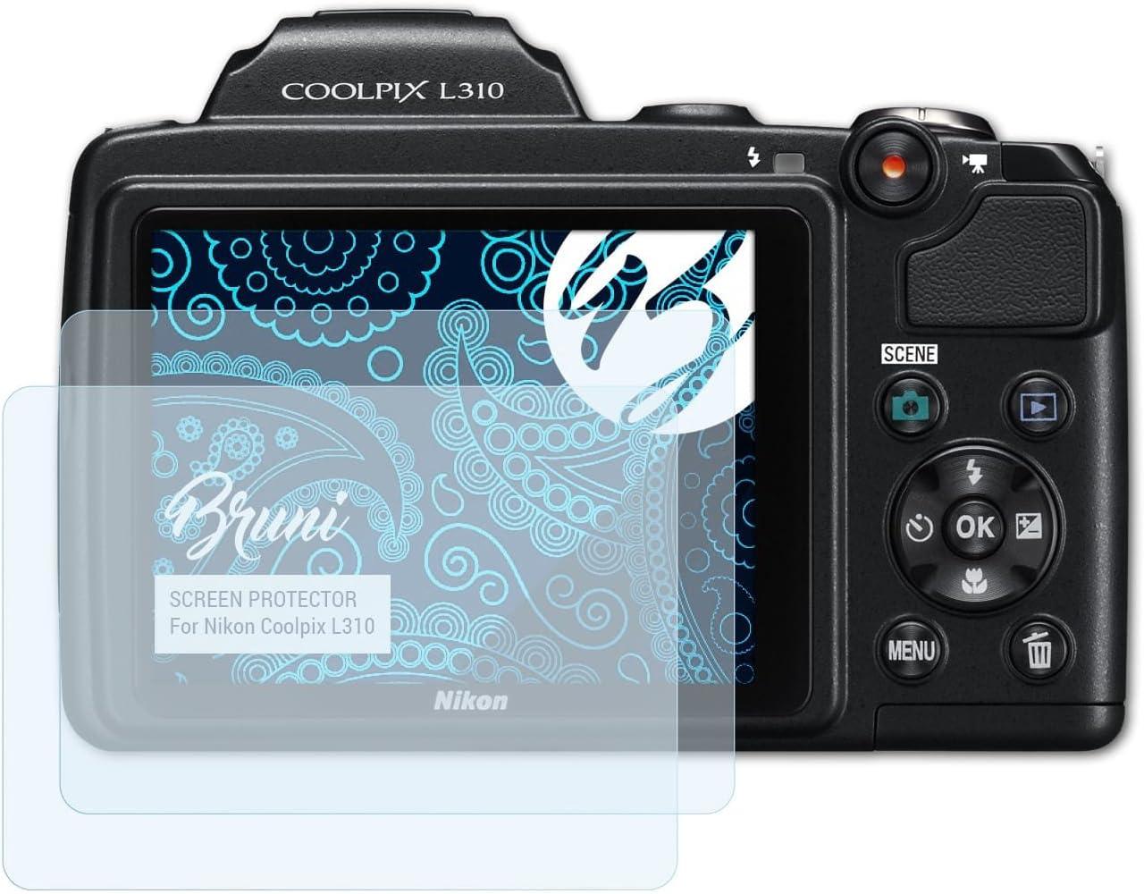 Bruni Película Protectora para Nikon Coolpix L310 Protector ...