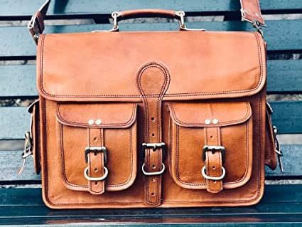 Image Unavailable. Image not available for. Color  leather messenger bags  for men women mens briefcase laptop bag best computer shoulder satchel  school bag 24717ee64137b