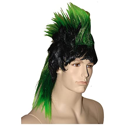 De la peluca cresta colour verde neón mechas stile di capelli Iroquois papel pintado para pared