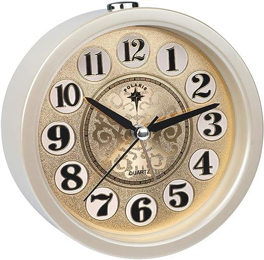 Ayybboo Reloj Despertador Analógico, Imitacion Madera Retro ...