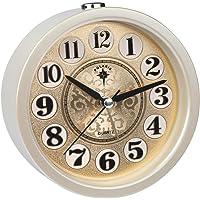 Ayybboo Reloj Despertador Analógico, Imitacion Madera Retro Redondo
