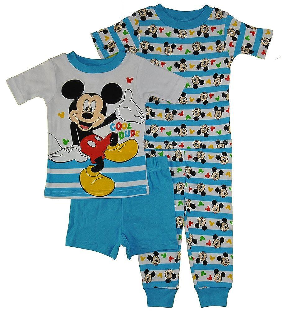 Disney Boys Little Boys Mickey 4-Piece Cotton Pajama Set 21MK253ESSDZ