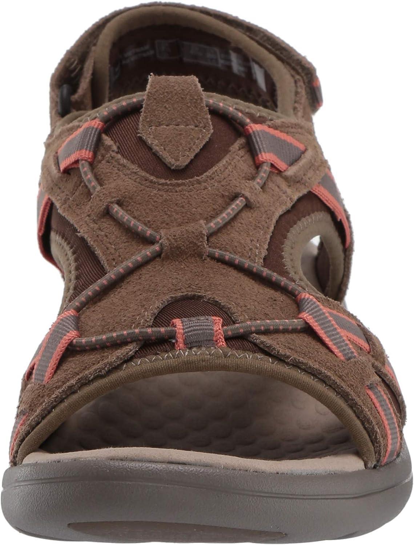Clarks Women's Saylie Loop Sport Sandal Taupe Suede