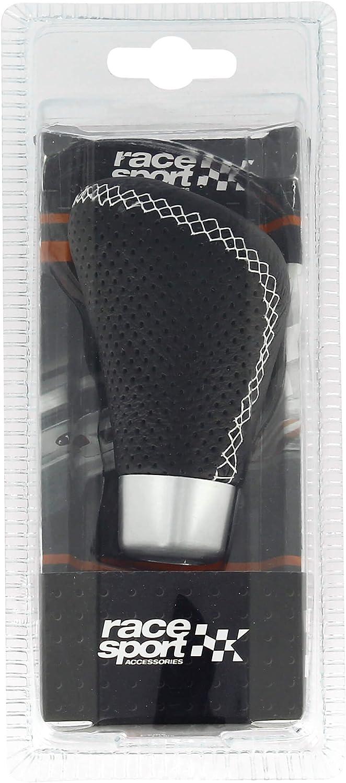 Race Sport 2505/R/ührwerk GRW T/ürknauf-/Änderung Leder schwarz mit Naht in Wei/ß