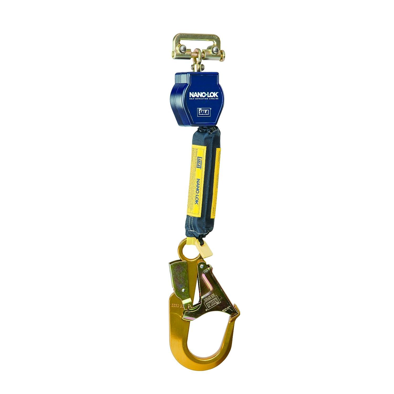 Snap Hook Blue Swiveling Anchor Loop 3M DBI-SALA Nano-Lok 3101252 Self Retracting Lifeline 6 3//4 Dynema Polyester Web