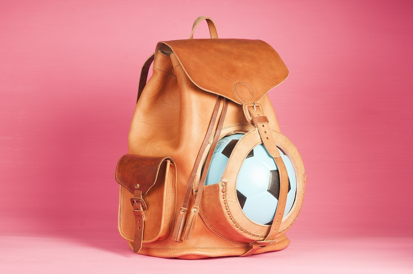Leather ball backpack RIKER ss 18.1