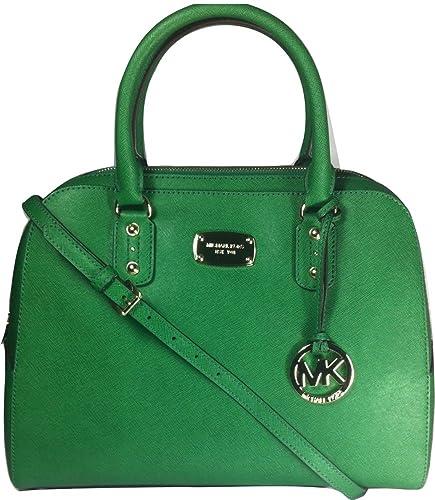 michael kors large satchel saffiano leather bag gooseberry handbag rh amazon com