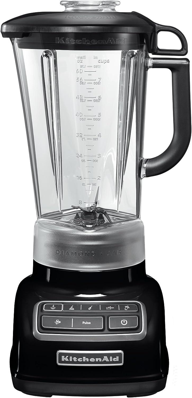 KitchenAid 5KSB1585EOB - Licuadora multifunción, color negro y plateado