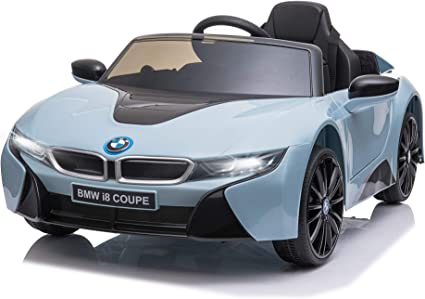 Amazon Com Aosom Licensed Bmw I8 Coupe Electric Kids Ride On Car 6v Battery Powered Toy With Remote Control Music Horn Lights Mp3 Suspension Wheels For 3 8 Years Old Blue Toys Games