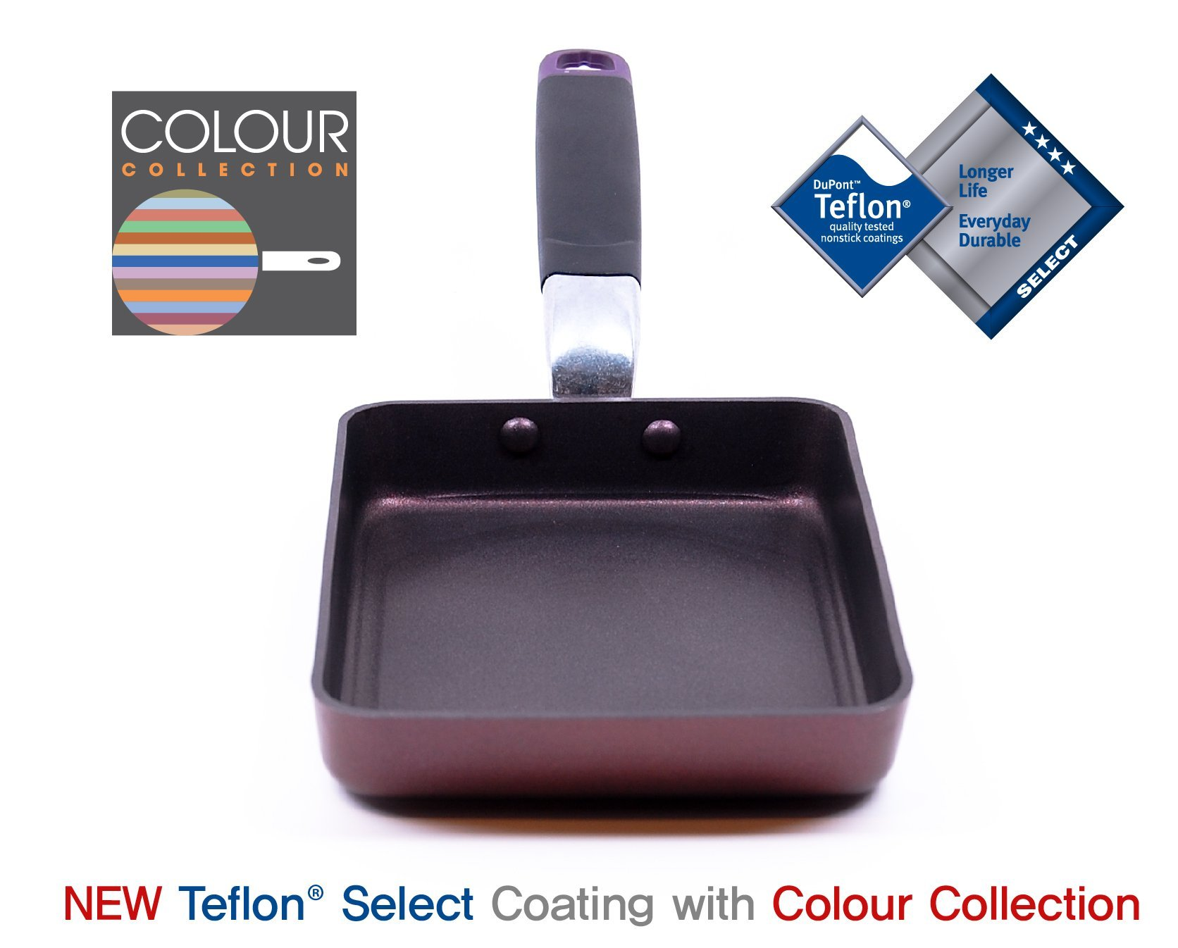 TeChef - Tamagoyaki Japanese Omelette Pan/Egg Pan, Coated with Dupont Teflon Select - Colour Collection/Non-stick Coating (PFOA Free) by TECHEF (Image #2)