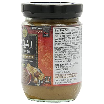 Buy Thai Kitchen Gluten Free Peanut Satay Sauce 8 Fl Oz Pack Of 12 Online In Japan B003vyddo2