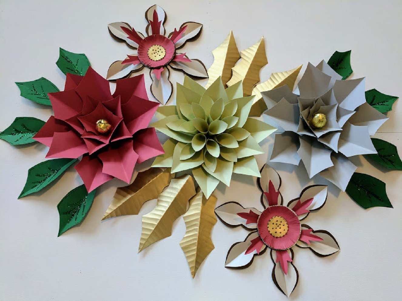 Amazon Paper Flowers Christmas Backdrops Includes 5 Paper