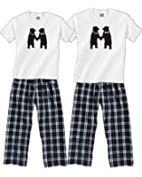 Dancing Bears Personalized Matching Couples Pajamas