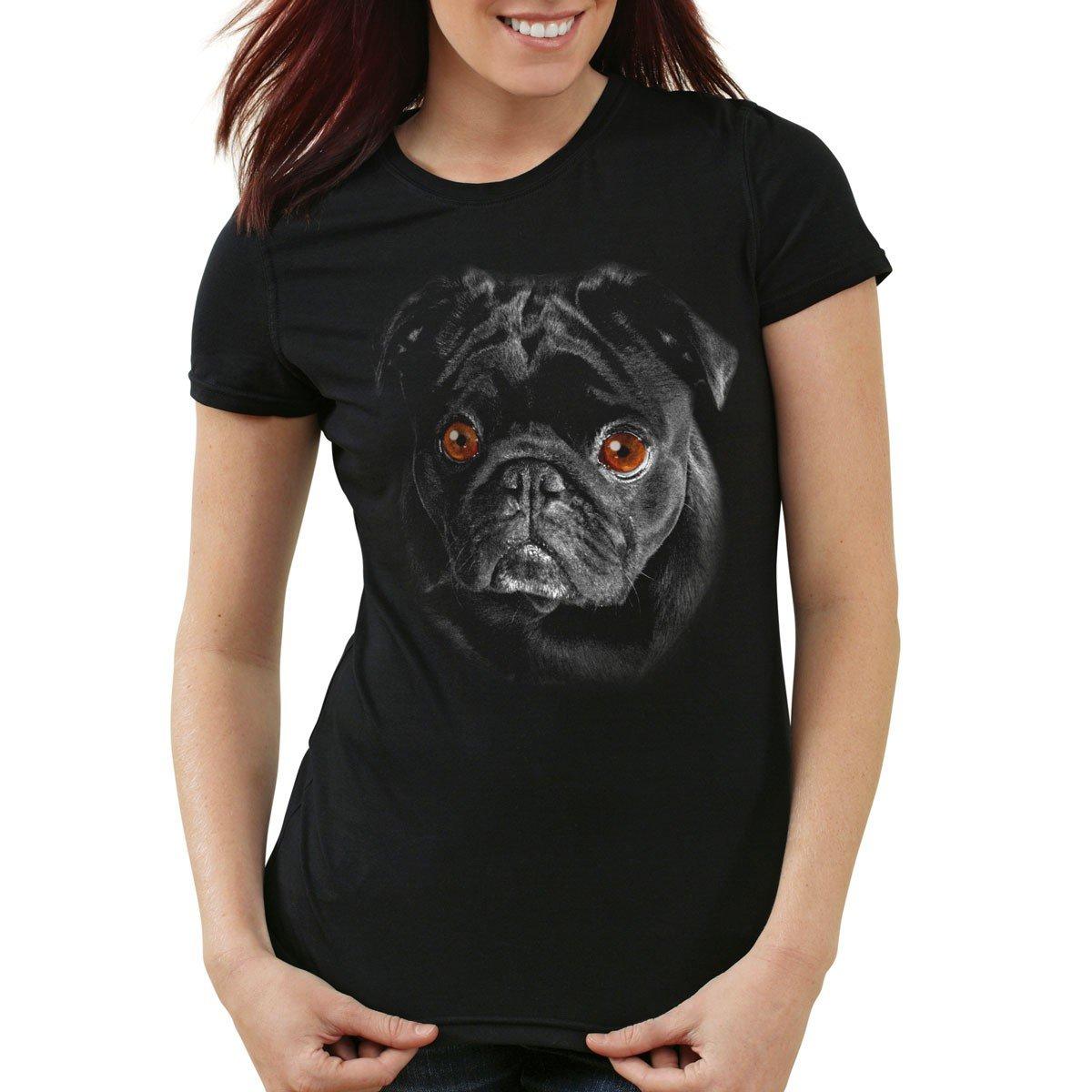3758c01dd817 style3 Bronx T-Shirt Damen Hundegesicht Mops Hund  Amazon.de  Bekleidung