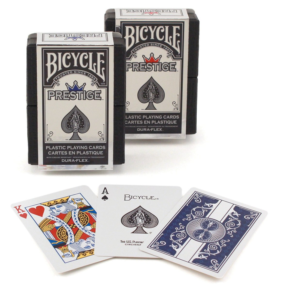 Bicycle Vélo Prestige Plastique Cartes à Jouer (Lot de 2) Sportsman Supply Inc. 1018425-2PK