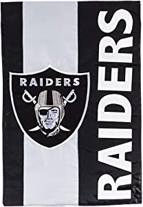 Team Sports America NFL LAS Vegas Raiders Embroidered Logo Applique Garden Flag, 12.5 x 18 inches Indoor Outdoor Double Sided Decor for Football Fans