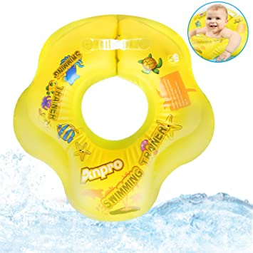 Baby Swimming Ring Float with Seat Baby Toddler Pool Swimming Float for Kids Paddling Pool 6 Months to 3 Years Inflatable Baby Swim Ring with Skin Care PVC for Infant Training