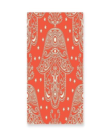 Lunarable Hamsa Wall Art Egyptian Boho Hand Pattern With Eye Design Bridal Henna Night