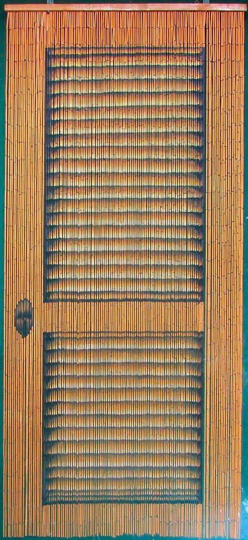 ABeadedCurtain 125 String Louver Door Beaded Curtain 38% More Strands Handmade with 4000 Beads (+Hanging Hardware)