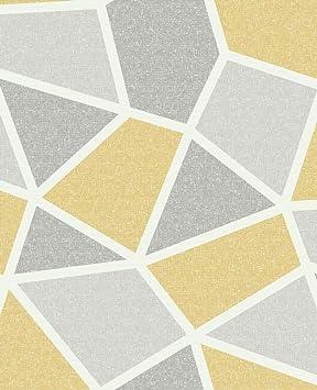 Couronne Geometrique Papier Peint Moutarde De Luxe Texture