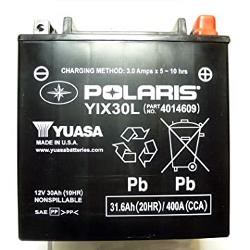 Polaris New OEM ATV UTV Battery 30AH 12 Volt AGM, Sportsman