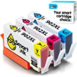 Smart Ink Compatible Ink Cartridge Replacement for HP 902 XL 902XL (C/M/Y, 3 Pack) with Advanced Chip Technology to use with