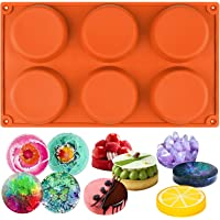 Funshowcase 6-Cavity Mini Disc Cake Pie Custard Tart Resin Coaster Silicone Mould