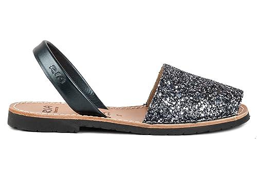 4d14d31e Ria Zapatos Mujer Menorquinas Avarcas 21224 Acero: Amazon.es: Zapatos y  complementos