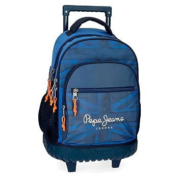 Pepe Jeans Fabio 6092961 Mochila Escolar, 43 cm, 28.9 litros, Azul: Amazon.es: Equipaje
