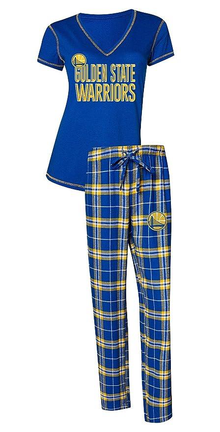 uk availability 2d8fe 36059 Concepts Sport Golden State Warriors NBA Super Duo Women's T-Shirt &  Flannel Pajama Sleep Set