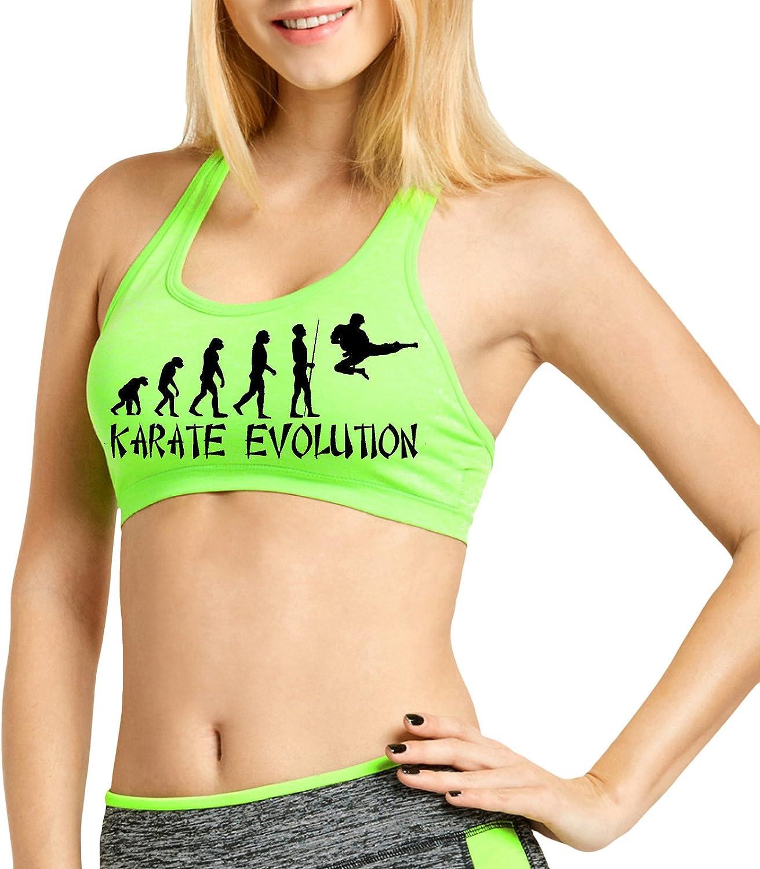 Interstate Apparel Womens Petite Evolution of Karate V102 Cross Back Fitted Sports Bra