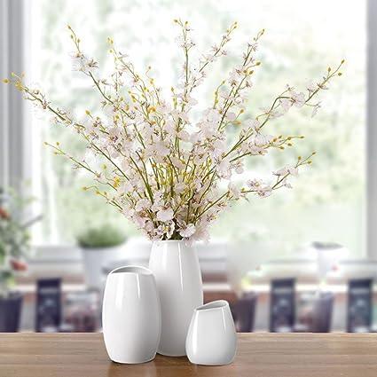 5286dcb3fb116 Amazon.com: zenggp Vase Set Creamy White Flower Fashion Desktop ...