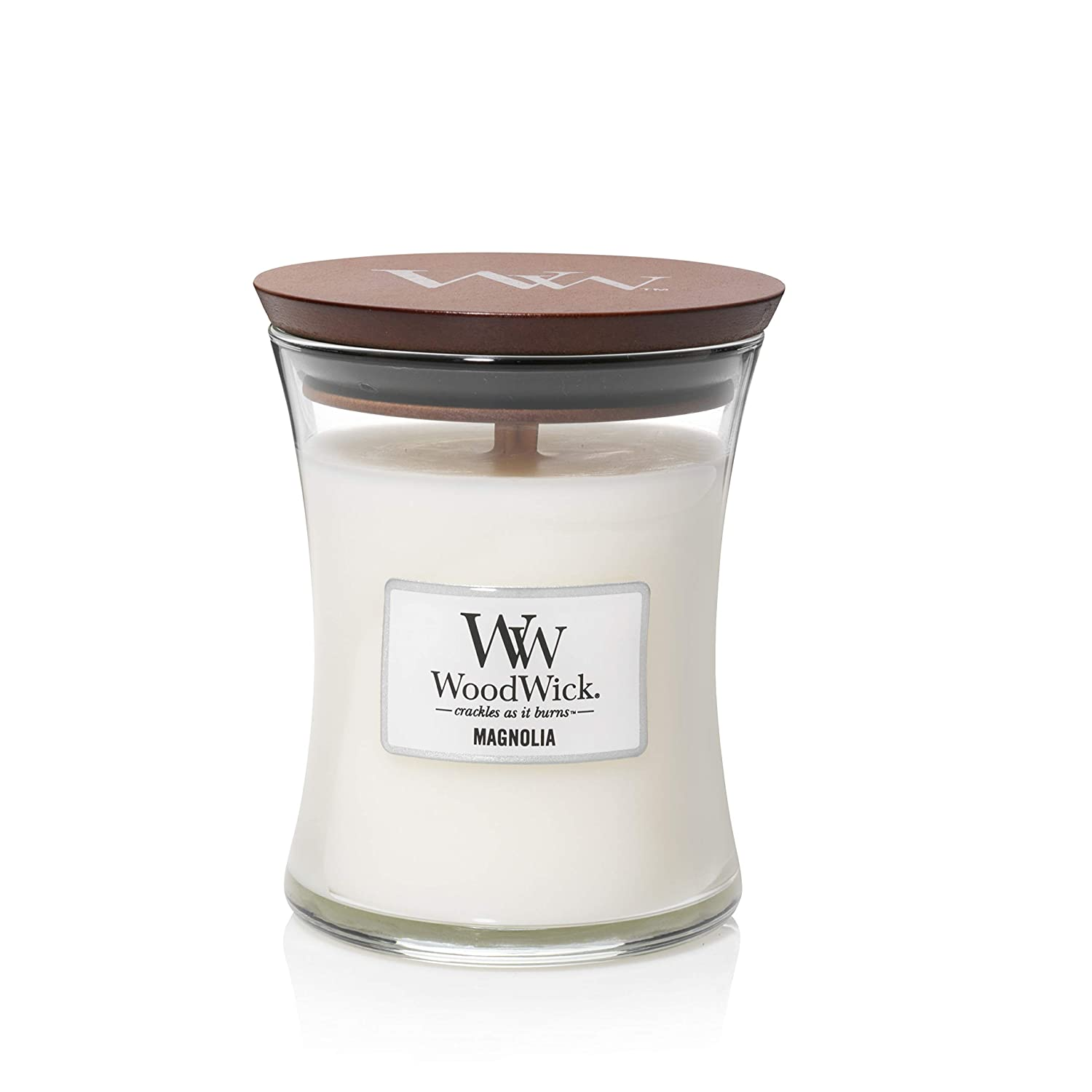 WoodWick Medium Hourglass Scented Candle, Magnolia 92190E