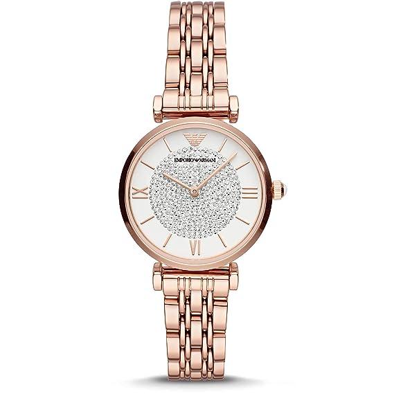 Emporio Armani Reloj de Mujer AR11244: Amazon.es: Relojes