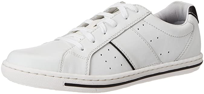 Mens 19006 Low-Top Sneakers, Weiß (Weiss/Schwarz/80), 7.5 UK Rieker